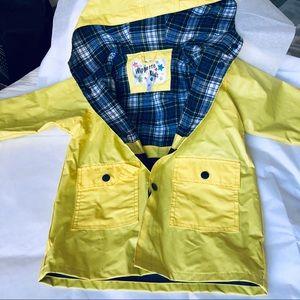 Wippette Kids Yellow Rain Coat 3T